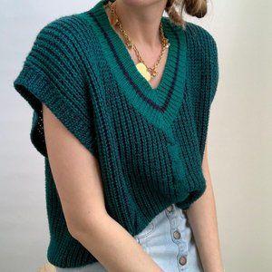 Vintage Boxy Spring Knit Vest Tee